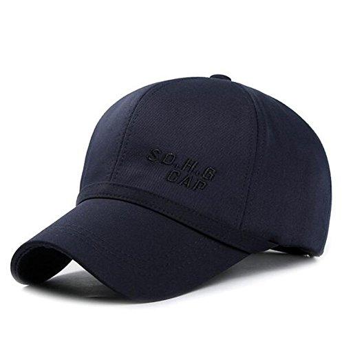 Baseball-Mütze/Sommer im mittleren Alter Bumao/Federkappe M/ Außen Sonnenhut Gezeiten/ Herbst und Winter Hut/Kopfbedeckungen für Männer-D verstellbar