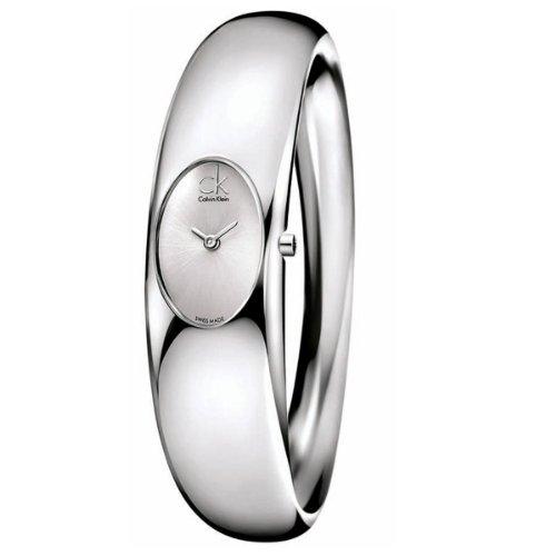 Calvin Klein Damen-Armbanduhr XS Exquisite Analog Edelstahl K1Y22120