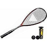 TECNIFIBRE CARBOFLEX 125 S Squash RAQUETTE + Dunlop Pro Squash BALLES 3, 6 ou 12