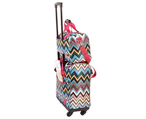 Aztec 2 Piece Luggage Set Travel Suitcase Trolley Cabin Case Wheeled Bag Carry