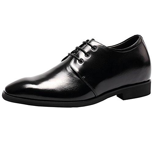 Chamaripa mocassini scarpe con rialzo eleganti derby uomodi pelle per tempo libero/affari commerciali caff¨¨ fino a 8 cm - l62d09k122d