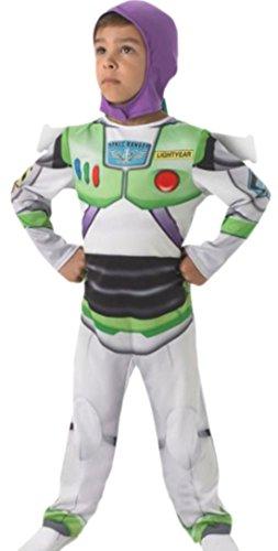 (erdbeerloft Jungen Buzz Lightyear Kostüm, 98, Weiß)