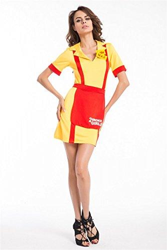 Kostüm Serie Two Kellnerin Bedienung Fernsehen Damenkostüm, Größe:M (2 Broke Girls Halloween-kostüme)