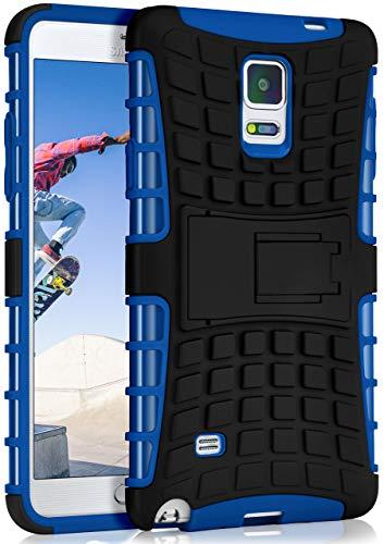 ck-Cover aus Silikon + Kunststoff [Double-Layer] passend für Samsung Galaxy Note 4 | Extrem widerstandsfähiger 360° Schutz, Blau ()