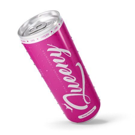 Queeny von GymQueen ❤ 1 Dose Energy Drink Zuckerfrei als Pre Workout Booster mit BCAA für Frauen 250ml ❤ Aspartamfrei ❤ Trainingsbooster sugarfree als Preworkout Supplement zum Abnehmen ❤ inkl. Pfand