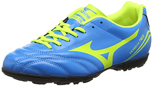 MizunoMorelia Neo Cl as - Scarpe da Calcio uomo , Blu (Blue (Diva Blue/Safety Yellow)), 43