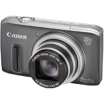 Canon PowerShot SX 260 HS Digitalkamera (GPS, 12,1 Megapixel, 20-fach opt. Zoom, 7,6 cm (3 Zoll) Display, bildstabilisiert) grau
