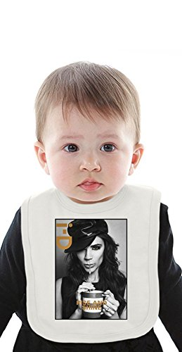 Victoria Beckham Fashion Cute Organic Baby Bib With Ties Medium