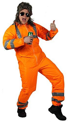 Foxxeo 40353 I Premium Party Anzug für den Junggesellenabschied von richtigen Männern | Größe M-XXL | Assianzug Arbeitsanzug Partyanzug Onesie Müllmann Herrenkostüm Reflektor
