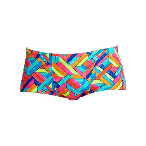 Badehose Trunk (Funky Trunks Mens Classic Trunks Panel Pop Badehose (S))