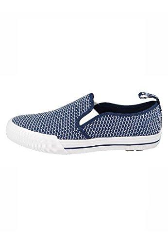 Dr. Martens Vista TOOMEY Navy Slip-On Schuhe Blau Weiß 22285410 Navy