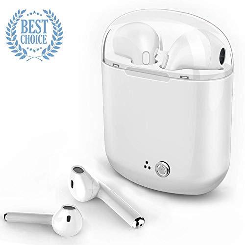 Auricolare Bluetooth, i7-TWS stereo, compatibile con Samsung Galaxy S7, S8, smartphone Android e iOS. … (W)