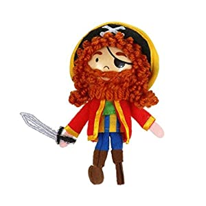 Fiesta Crafts- Marioneta de Dedo Pirata Long John Silver, (1)