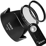 LUMOS Zubehör Set mit Fernauslöser ersetzt Nikon ML-L3 Gegenlichtblende HB-N106 55mm UV Filter & Polfilter | Passt zu AF-P 18-55 an D5300 D3400 D3300