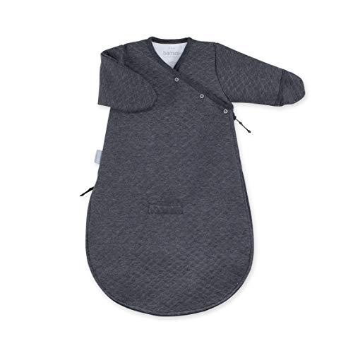 BEMINI Gigoteuse Magic Bag avec manche gris anthracite chiné 0/3 mois, en Kilty