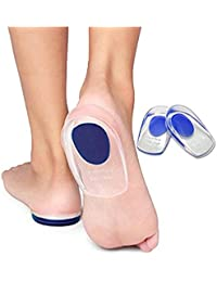 Lify Silicone Heel Cup Pads for Bone Spurs Pain Relief Protectors of Your Sore or Bruised Feet .Can be Hand washable, Reusable( 1 pairs)