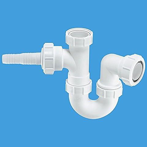 Mcalpine Wm2 Sink Trap With Horizontal Nozzle, White