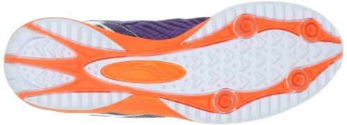 Saucony Women's Kilkenny XC5 Racing Shoe, Grey/Slime/Pink, 10 M US Purple/Orange