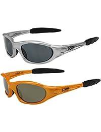2er Pack X-CRUZE® X06 Sonnenbrillen Sportbrille Radbrille Fahrradbrille in den Farben schwarz, anthrazit, weiß, silber, braun, rot, blau, gelb, orange und rot-orange