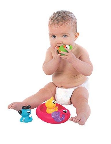 Playgro-40123-Badespielzeug-schwimmende-Freunde-bunt
