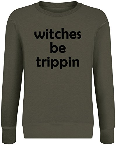 Hexen seien Trippin - Witches Be Trippin Sweatshirt Jumper Pullover for Men & Women Soft Cotton & Polyester Blend Unisex Clothing Medium