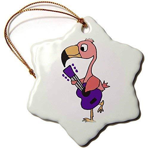 GFGKKGJFF Dekofigur, Motiv: Pinker Flamingo, Gitarre spielend, Keramik, Weihnachtsdekoration für Paare, Verlobung, Andenken