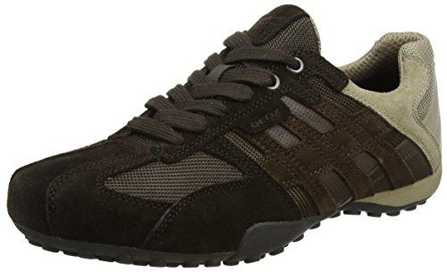 Geox Herren Uomo Snake E Sneaker, Braun (Chocolate/Ebony), 44 EU