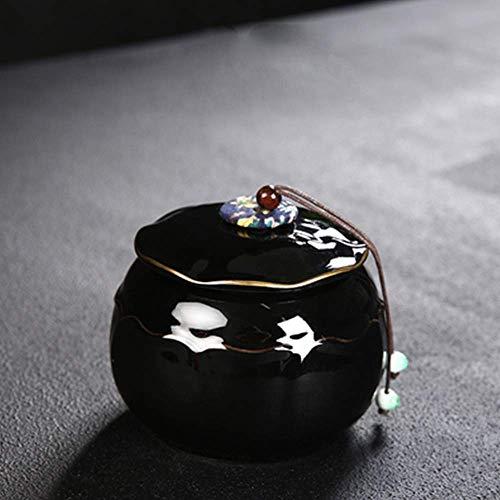 &liyanan Haustier Sarg, Haustier Sarg, versiegelte feuchtigkeitsfeste Keramik Haustier Sarg Tier Gedenkglas Katze Hund Jar Bestattungsbedarf Asche - 13,3 X (Höhe) 12,8 cm,C (Tier-sarg)