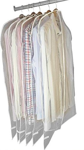 Garment cover Bags by Dryzem set di 6custodie impermeabili per abiti, camicie, abiti e vestiti 100cm x 60cm