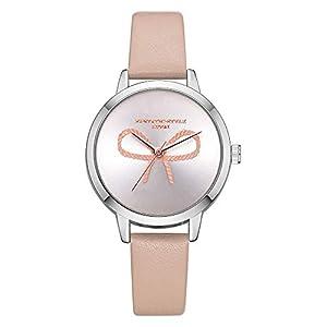Hffan Damen Bogen Elegant Freizeituhr Quarzuhr Armbanduhren für Frauen mit PU Lederband Süß Beobachten Tabelle Handschmuck Armband Uhren Damenuhr Uhr