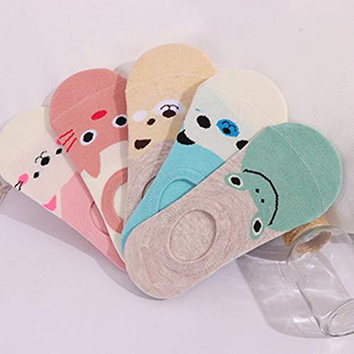 Monlladek Karikatur-Frauen-Mädchen-Socken Crew Socken Unsichtbare Socken Sommer Baumwolle Breathable Kleinkind Low Cut - Air Sock Kostüm