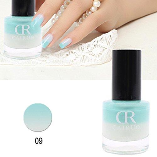 Farbe Nagellack, Die Sie (gaddrt Temperatur-Änderungs-Nagellack-Farbtemperatur-Steuer-Nagel-Öl 26 Farbe 12ml Farbe (I))