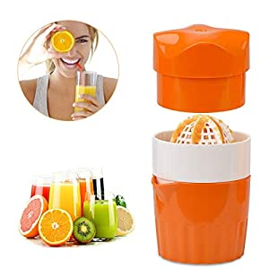 LIUMY-Tragbarer Manueller Juicer, Mini-Handbuch Abdeckung Rotary Press Für Lemon Grapefruit Easy Clean Behälter, Filter Get Raw Healthy Juice(Orange Squeezer)