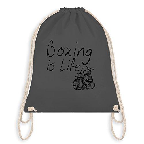 Kampfsport - Boxing is Life - Boxen ist Leben - Unisize - Dunkelgrau - WM110 - Turnbeutel I Gym Bag (Jugend Boxer Über)