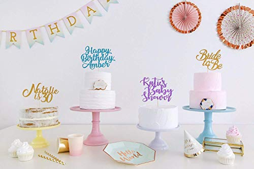 Custom Name Any Text Personalised Cake Topper. Birthday Party Decorations. Any Text. Birthday or Wedding Party. Any Glitter Colour. Cake Decoration. Wedding Decorations.
