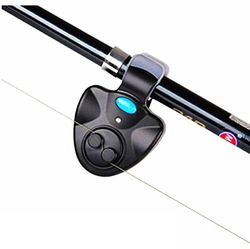 MA87 LED Elektronischer Fisch-Bissfinder-Alarm Alarmleuchte auf Angelrute im Freien