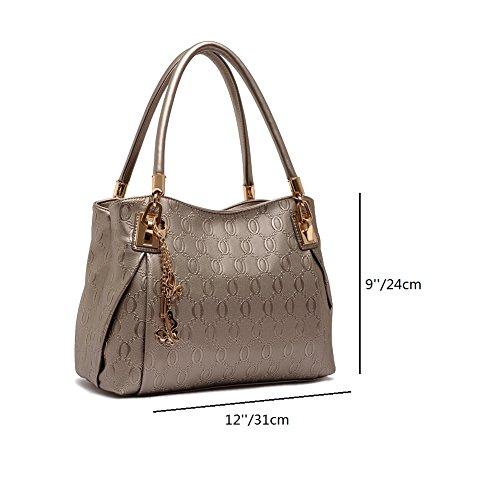 ZENTEII Faux PU Synthetische Frauen Leder Handtasche Umhängetasche Gold