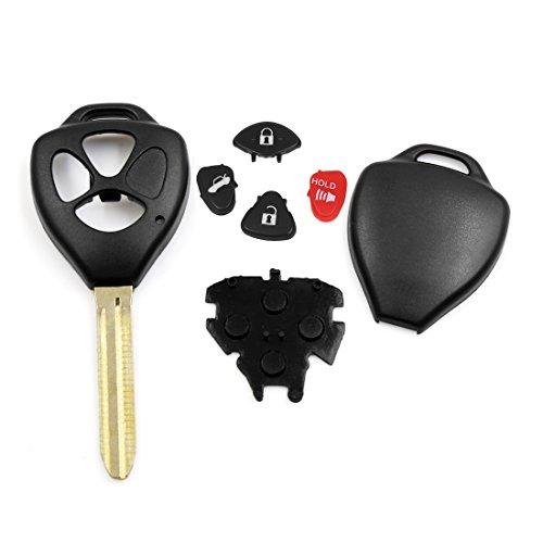 Sourcingmap New 3Tasten Rohling Schlüssel Fernbedienung Clicker FOB Fall Shell Ersatz für hyq12bby DE de (2009 Toyota Matrix-schlüssel)