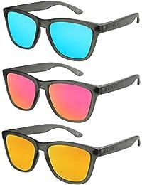 X-CRUZE® Nerd Sonnenbrille polarisiert Retro Vintage Style Stil Unisex Brille - 66 verschiedene Farben/Modelle wählbar