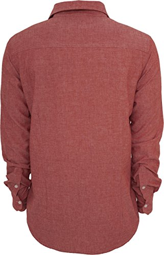 Chemise en coton pour homme 4 coloris disponibles Bordeaux
