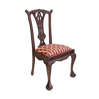 Antike Fundgrube Stuhl Lehnstuhl Sitzmöbel im antiken Stil Massivholz mit Polsterung (2608)