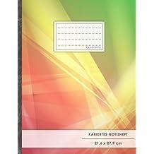"""Kariertes Notizbuch • A4-Format, 100+ Seiten, Soft Cover, Register, Mit Rand, """"Futuristisch"""" • Original #GoodMemos Quad Ruled Notebook • Perfekt als Matheheft, Skizzenbuch, Arbeitsheft, Tagebuch"""
