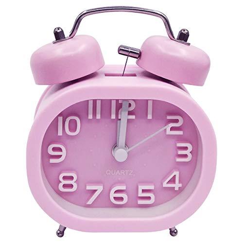 COOJA Reloj Despertador Vintage Retro Alarm Clock, 3 Pulgadas Despertador Doble Campana...