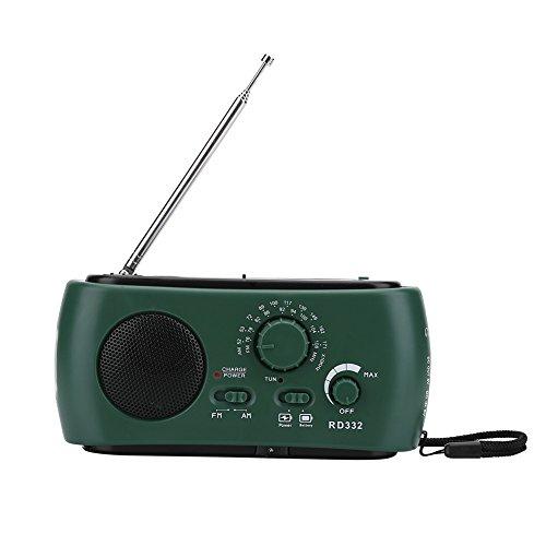 Notfall Solarenergie Hand Kurbel AM / FM / SW Radio mit Solarplatte Taschenlampe und Leselampe Handy-Ladegerät