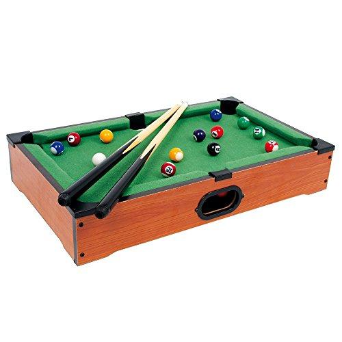 Tischbillard Mimi aus Holz, Geschicklichkeitsspiel auf jeder Tischplatte spielbar, schult spielerisch die Hand-Augen-Koordination, für kleine und große Billard-Fans ab 5 Jahre