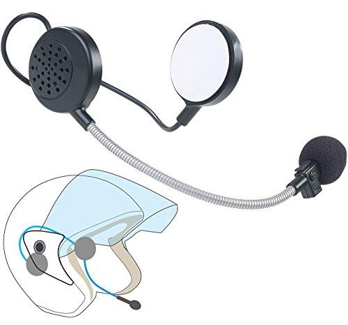 Callstel Helmlautsprecher: Intercom-Stereo-Headset für Motorrad-Helm, Bluetooth, 10 m Reichweite (Motorrad Gegensprechanlage)