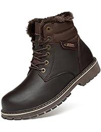 HHY-Usure respirant l'automne et l'hiver des bottes chaussures casual chaussures chaussures antidérapage taille épaissie,Black,38