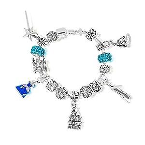 Cinderella Aschenputtel Disney-Prinzessinnen inspirierten Charm-Armbänder Bettelarmbander für Mädchen