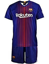 Conjunto - Kit 1ª Equipación Replica Oficial FC BARCELONA 2017-2018 Dorsal MESSI - Tallaje NIÑO…