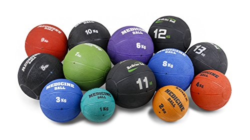 Robuster Gummimedizinball mit Ventil 1 kg - 2 kg- 3 kg 4 kg - 5 kg - 6 kg - 7 kg - 8 kg - 9 kg - 10 kg - 11 kg - 12 kg - 13 kg